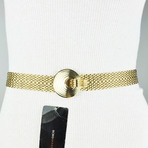 BCBG Gold Metallic Chain Belt